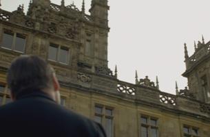 Bates looks up at Downton
