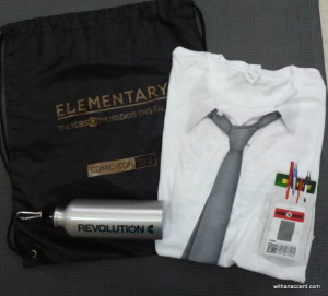 Promotional Items from Elementary, Revolution, and Chuck