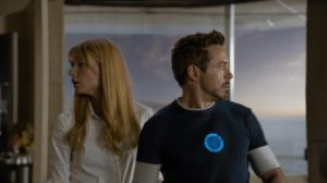 Pepper Potts and Tony Stark