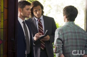 Dean and Sam questioning someone