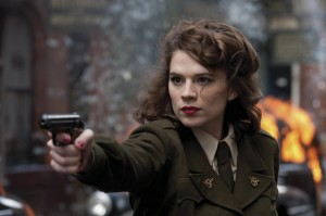 Peggy Carter pointing gun