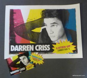 Darren Criss, Listen Up - Giveaway #2