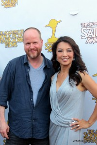 Joss Whedon and Ming-Na Wen attend the 39th Annual Saturn Awards