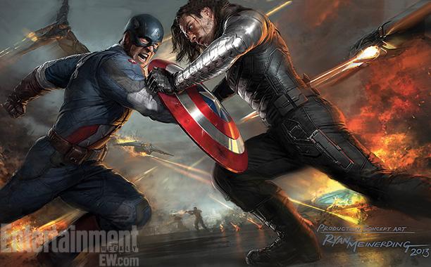 Captain America The Winter Soldier concept art of battle
