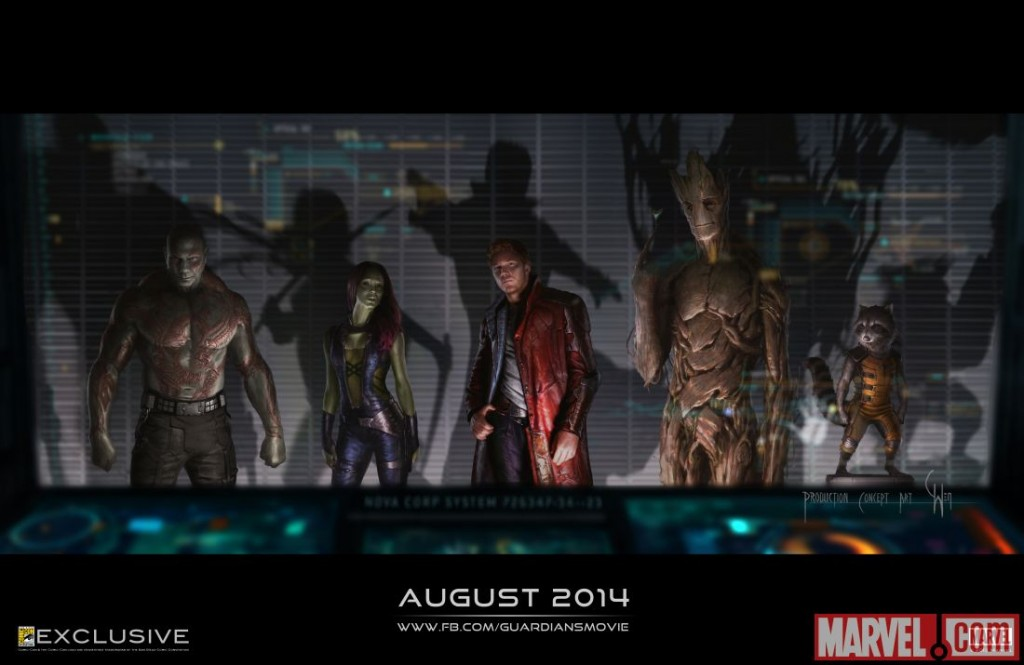 Guardians of the Galaxy SDCC concept art poster