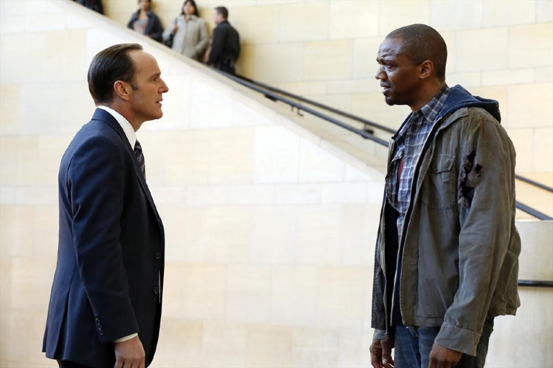 Agents of Shield--J August Richards and Clark Gregg