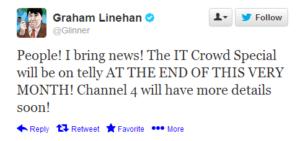 IT Crowd - GL Tweet