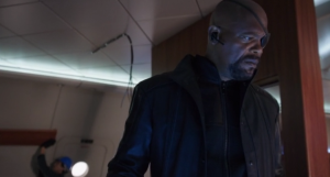 agents of shield, s1 ep02--Nick Fury sad about the bar