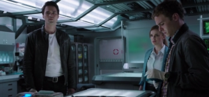 agents of shield, s1 ep02--Ward and FitzSimmons in the lab