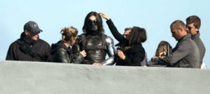 winter-soldier-captain-america--behind the scenes shot of Winter Soldier getting his hair done