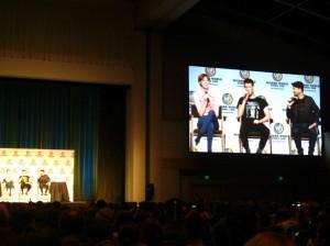 Karen Gillan and Matt Smith are closer than they appear. Photo: Holly Quinn