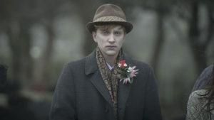 Kieren's non-drab look for Amy's funeral
