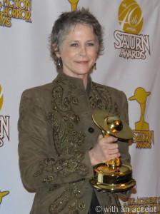 McBride with her Saturn Award