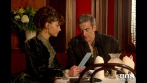 Jenna Louise Coleman and Peter Capaldi in Doctor Who