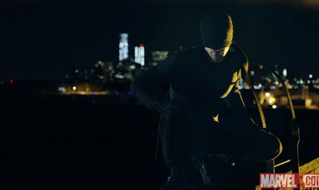 Daredevil--Daredevil in black mask and costume