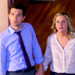 Leslie and Ben in the trailer for Parks and Rec's final season
