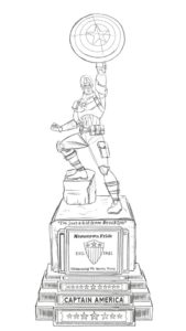 Drawing of the Statue that will be unveiled at SDCC 2016